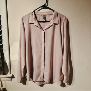 Powder pink H&M blouse for work, professional